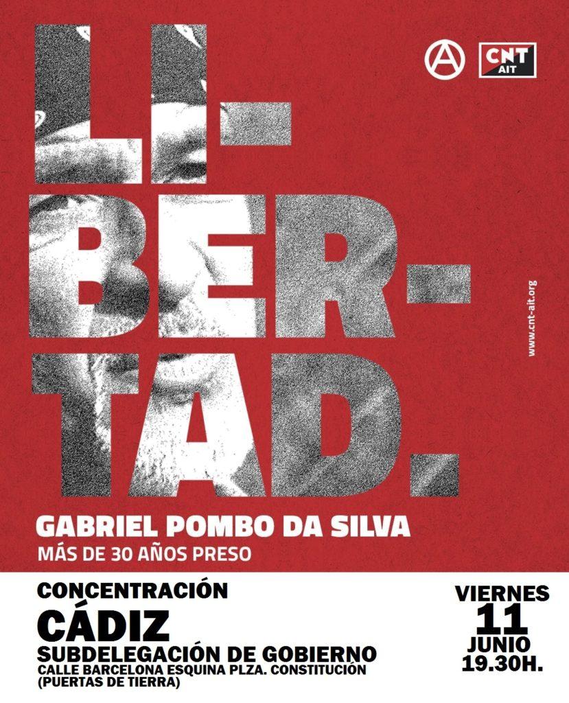 Cartel concentración Cádiz